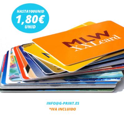 Oferta tarjetas sublimación